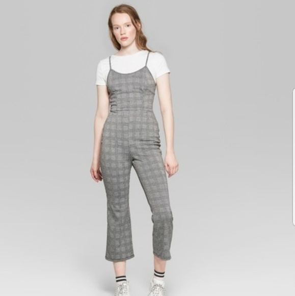 be910c182120 Wild Fable Pants | Womens Plaid Strappy Jumpsuit Xxl | Poshmark